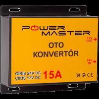 24-12V 15A Powermaster Oto Konvertör
