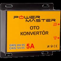 24-12V 5A Powermaster Oto Konvertör