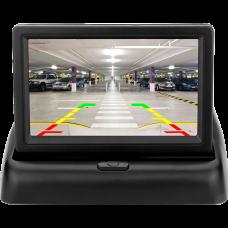 DG-403 Çift Video Girişli Açılır Kapanır 4.3 inch Araç Monitörü