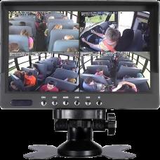 DG-705 Dört Video Girişli Güneşlikli 7 inch Quad Araç Monitörü